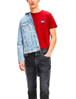 T-Shirt Tommy Jeans Badge red man