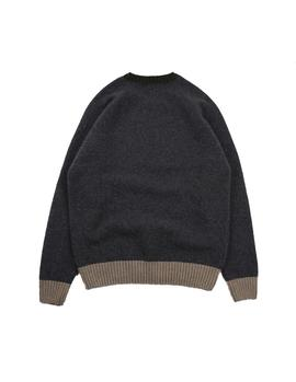 Sweater Edmmond Contrast Men's navy sweater